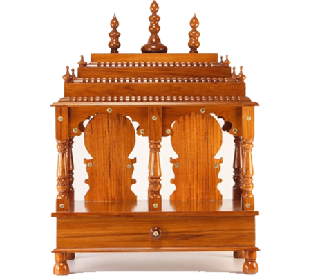 home wooden mandir